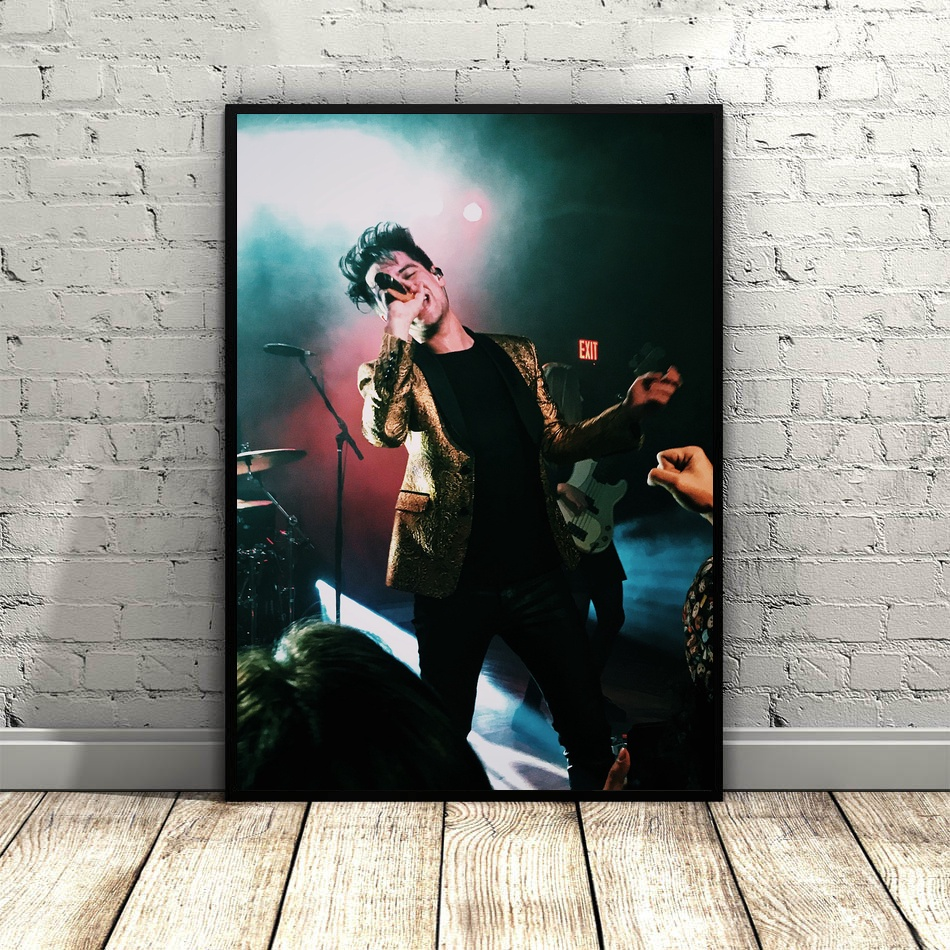 Brendon Urie Panic at the Disco Hot Pop Music Star Art Poster Top seda lienzo Home Decor 12x18 24 pulgadas 36