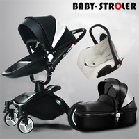 Aulon 3 in 1 Baby Stroller with the car set High View Shock Proof Baby Carriage babyfond