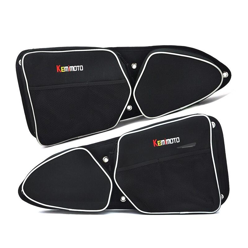 KEMiMOTO UTV Voor Polaris XP 1000 XP4 1000 900 RZR Deur tas knie Pad Side opbergtas Tie Down Anker Tie Downs Ankers Oranje