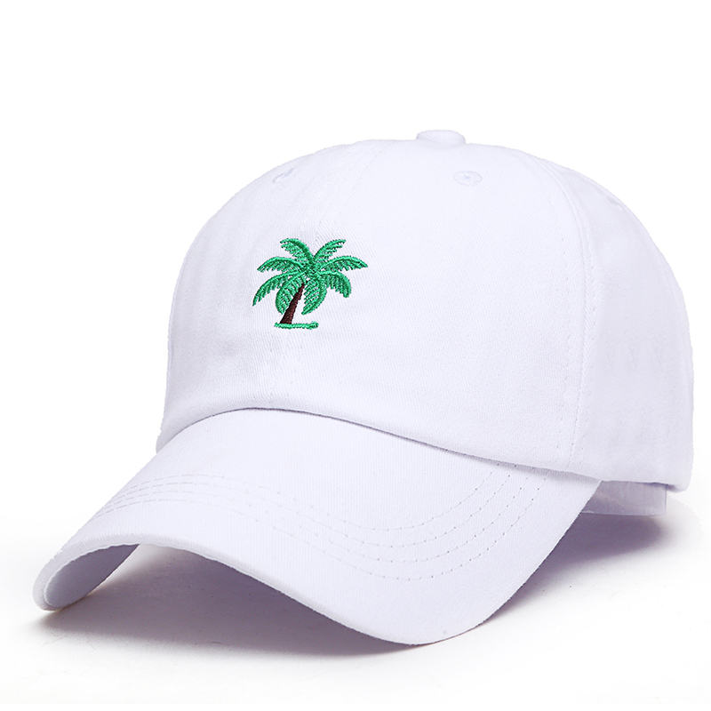 Men's Baseball Caps Humor 2018 New Embroidery Palm Trees Curved Dad Hat Beach Sunrise A Holiday Baseball Cap Coconut Trees Hat Strapback Hip Hop Cap Golf