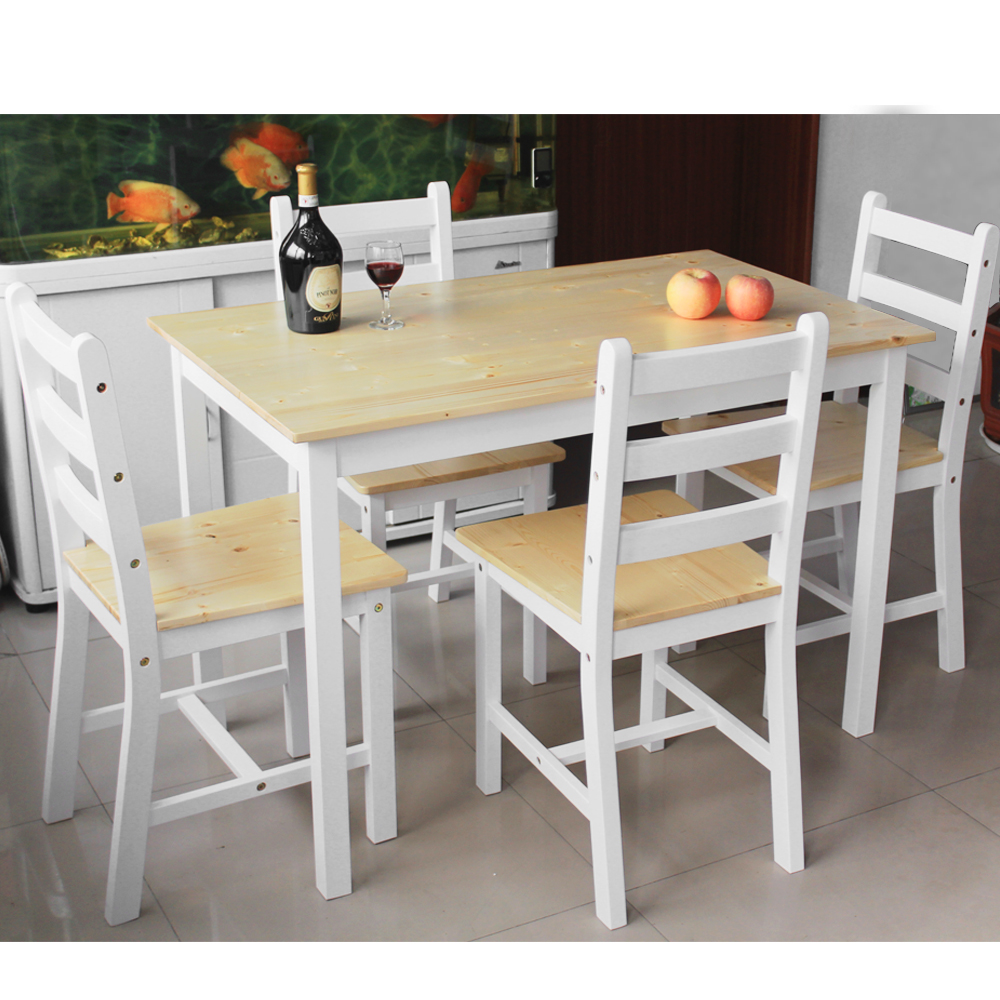Wooden Dining Set One Table With 4pcs/lot Dining Chair