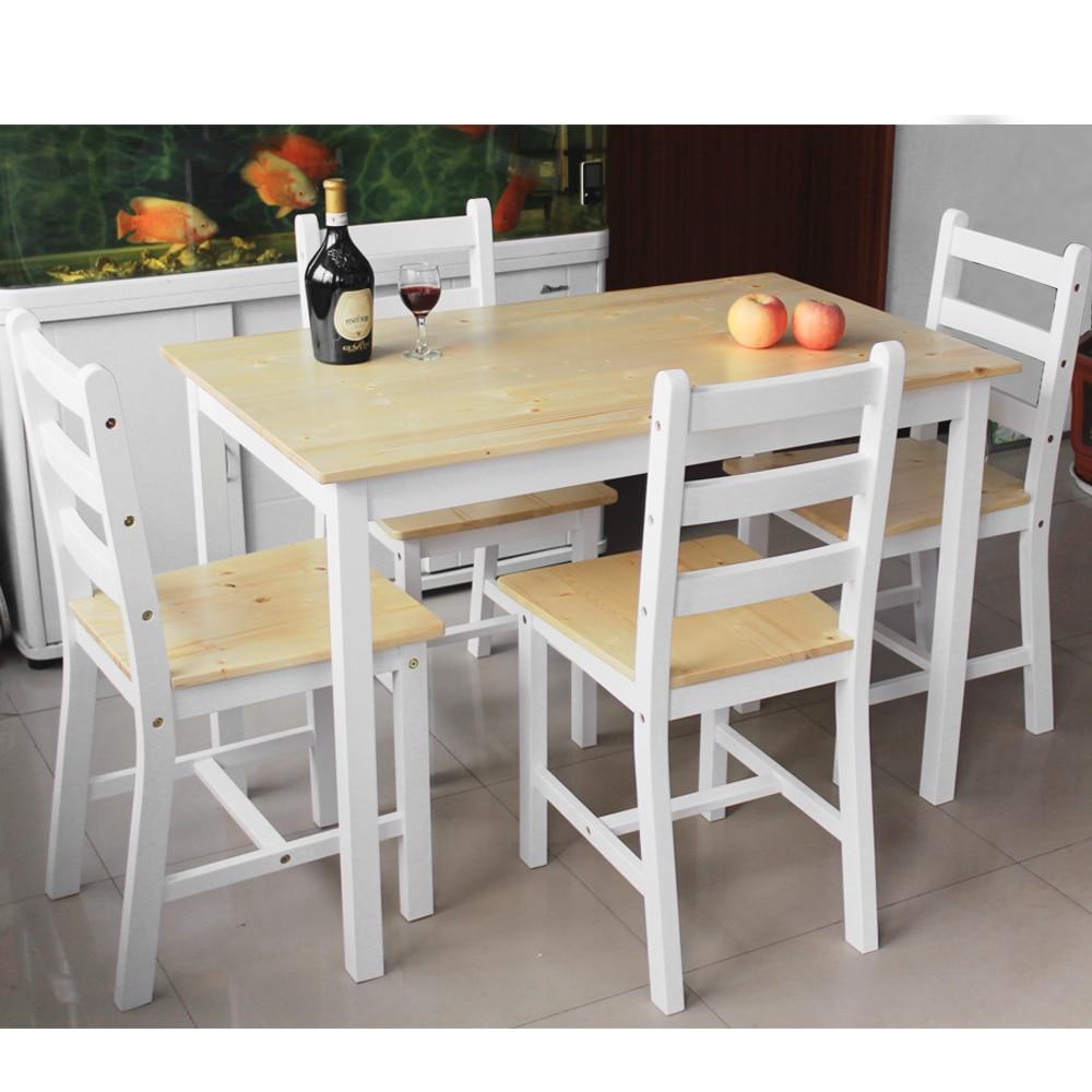 juego de comedor de madera mesa con unidslote silla de comedor blanco de