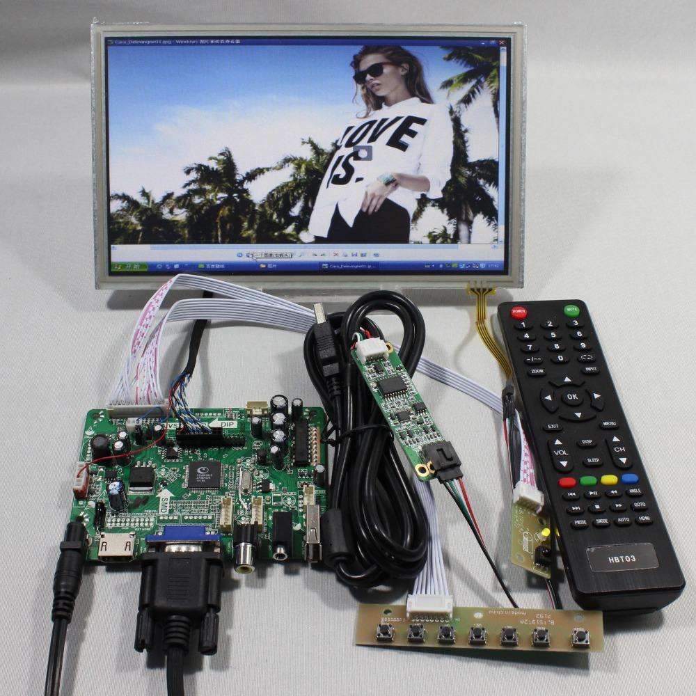 HDMI+VGA+AV+Audio+USB FPV Controller board+8.9inch HSD089IFW1 1024X600 lcd panel Touch panel screen model LCD for Raspberry Pi  hdmi vga av audio usb fpv control board 14inch ltn140at26 lp140wh1 1366 768 lcd screen model lcd for raspberry pi