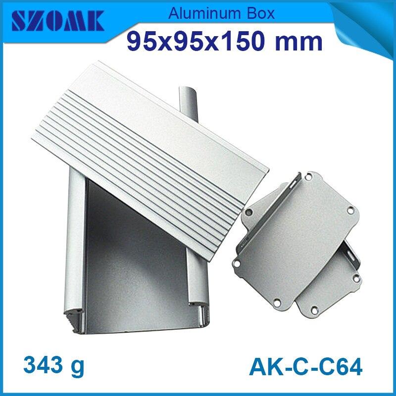 4 pcs/lot support mural en aluminium extrusion boîtier diy cas de commande électrique pour pcb 55*95*150mm