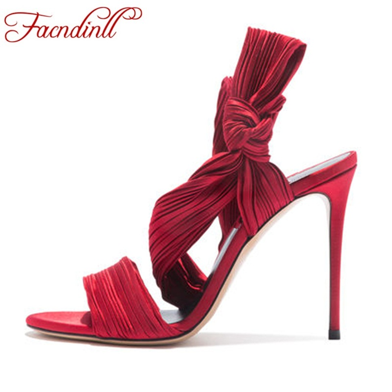 Zapatos Rojo Vestido Red Mujeres Verano Nueva Boda Altos Gruesos Ybf76ygv