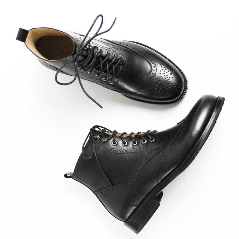 2019 г.; botas hombre; модная офисная обувь ручной работы; мужские повседневные ботинки из натуральной коровьей кожи; оригинальный дизайн