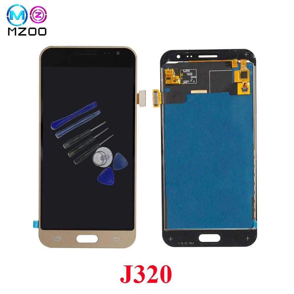 Mzoo telefon LCDs Bildschirm Für SAMSUNG GALAXY J3 2016 J320 J320F SM-J320F Display Touchscreen Digitizer Montage Ersatz Teile