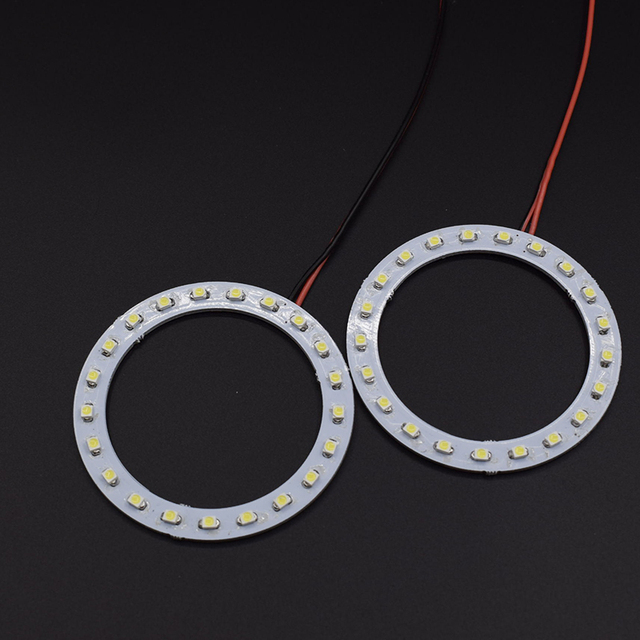 2PCS x  Car Led  Headlight 70mm 3528 21 SMD Angel Eyes Halo Ring Light  White/Blue/Yellow/Green/Red
