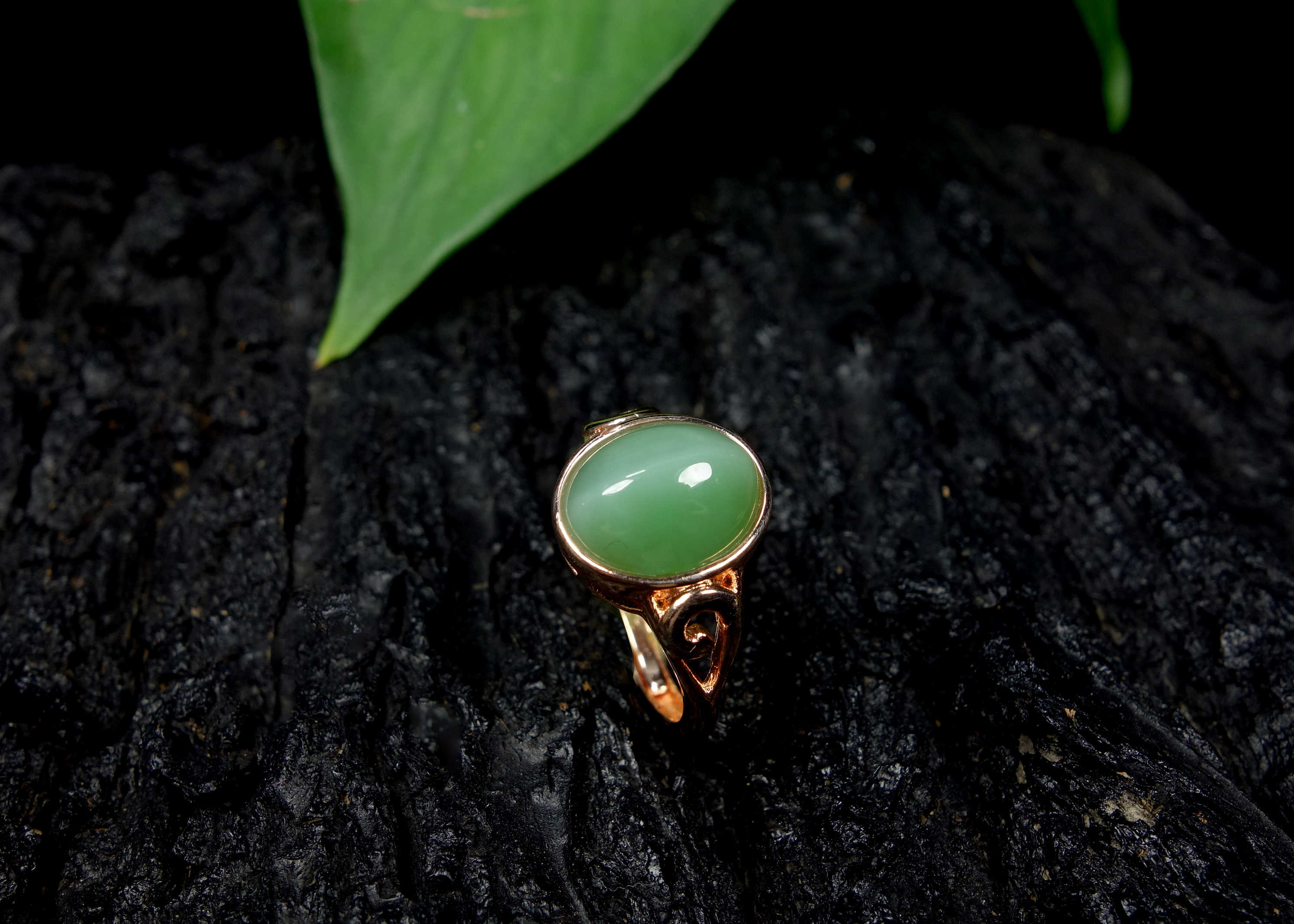 Nephrite jade Jasper S925 แหวนเงินพลอย Home Decor ของขวัญ Reiki Gemstone ผู้หญิงงานแต่งงานครบรอบของขวัญ