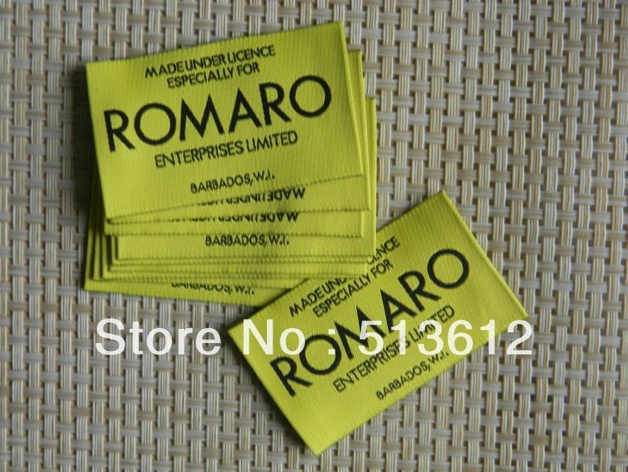 OEM Garment labels clothing labels woven label main label