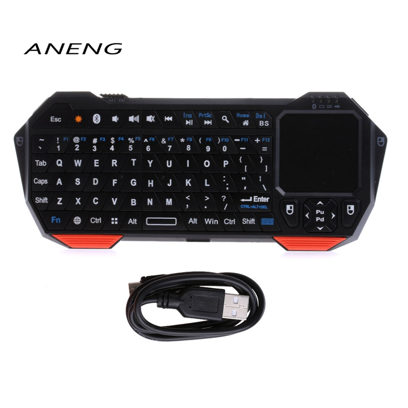 ANENG Mini Wireless Bluetooth V3.0 Keyboard Built-in Fly Air Mouse Touchpad For ipad Tab ...