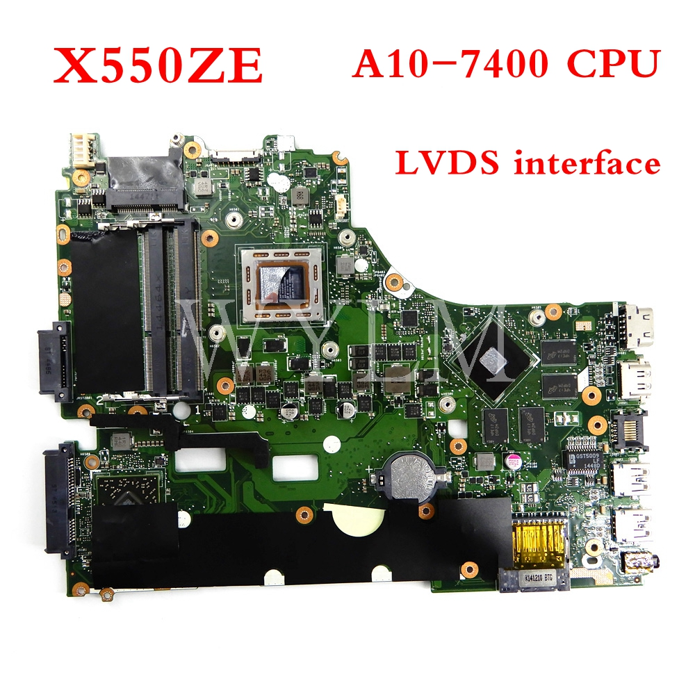 X550ZE Motherboard A10-7400CPU Mainboard For ASUS X550Z X550ZE X550 X550ZA K550Z A555Z VM590Z Laptop Motherboard Tested Working