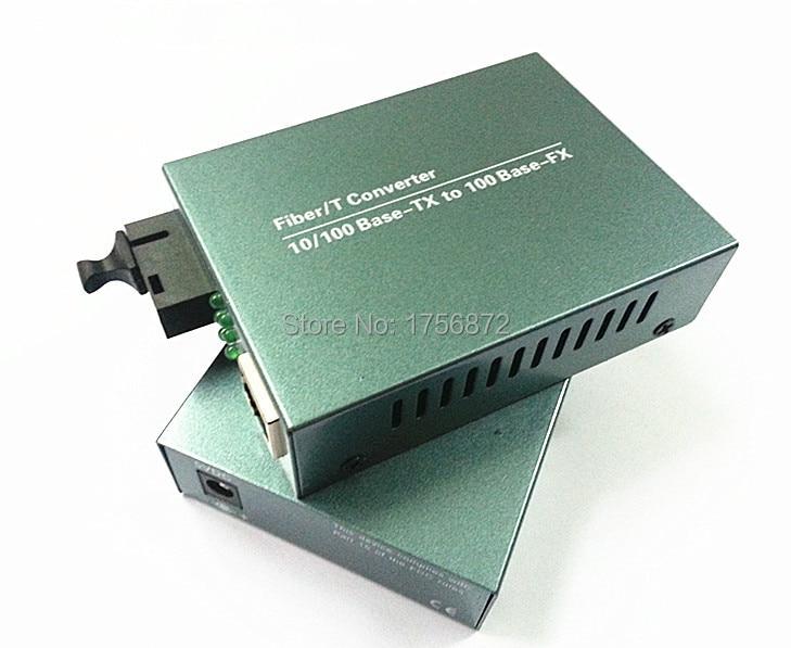 10 / 100M 단일 모드 단일 메가 바이트 섬유 매체 변환기 광학적 인 송수신기 RJ-45 1 SC 20KM