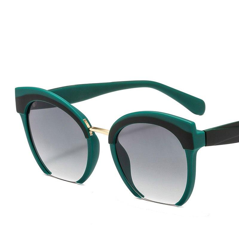 Gafas De Sol De ojo De gato De medio Marco De colores a la moda, Gafas De marca De alta calidad, Gafas De Sol De compras, Gafas De Sol UV400
