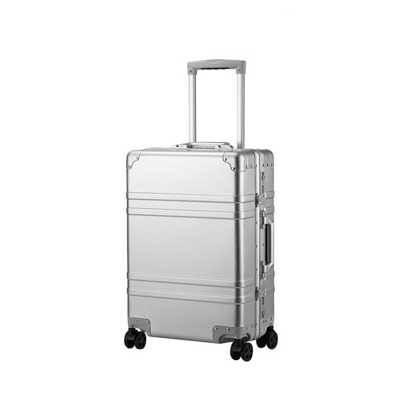 100 Aluminum Alloy pull rod suitcase 20 inch metal luggage fashionable new type of suitcase luggage