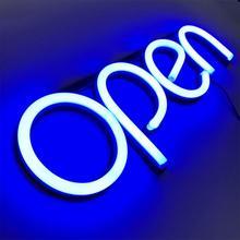 Ультра яркий неоновый многоцветный стиль, открытый светодиодный неоновый светильник, вывеска с окошком и буквами RGB, демонстрационный светильник для бара, ресторана, магазина, салона