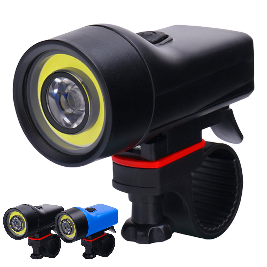 Brand New Ultra-Bright 500 Lumen Bike Light COB+XPE Adjustable 4 Modes 130M Bicycle Front LED Flashlight Lamp Cycling Light