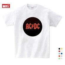 b1ce7cc66 Niño y niña imprimir AC DC Rock banda Camiseta cuello redondo corto camiseta  Acdc gráfico de