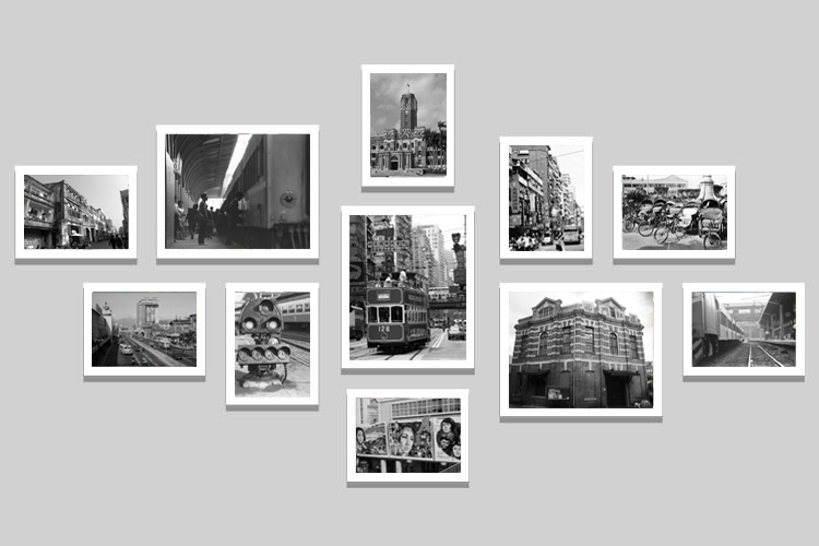 Taiwan Classic Black And White Photo Wall Wood Frame Building Street Paintings Decorative Painting Restaurant Office Draw On Aliexpress