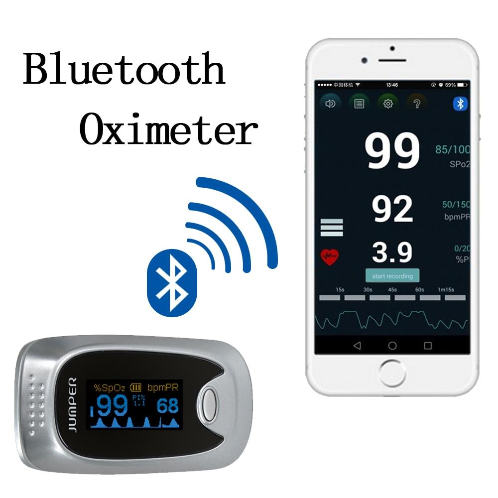ФОТО Jumper New Finger Pulse Oximeter Blood Oxygen Saturation Bluetooth Oximetro de dedo Monitor for Health Care