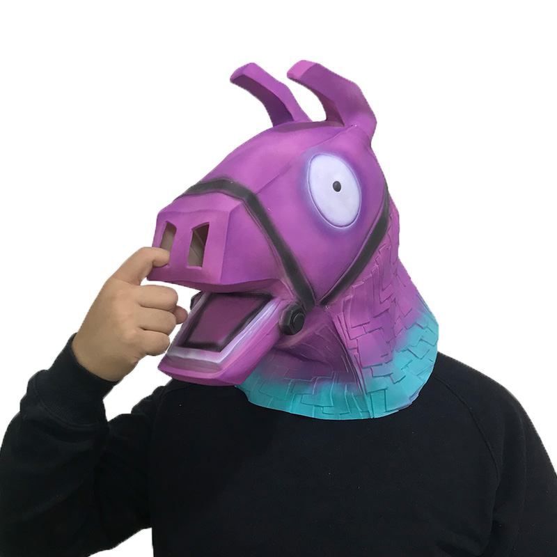 Game Battle Royale Stash Llama Cosplay Mask Rainbow Horse Troll Stash Llamas Alpaca Masks Halloween Props