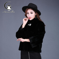 2016 New Mink Hair Short Fur Coat With Fur Factory Made The Classic Style Ms