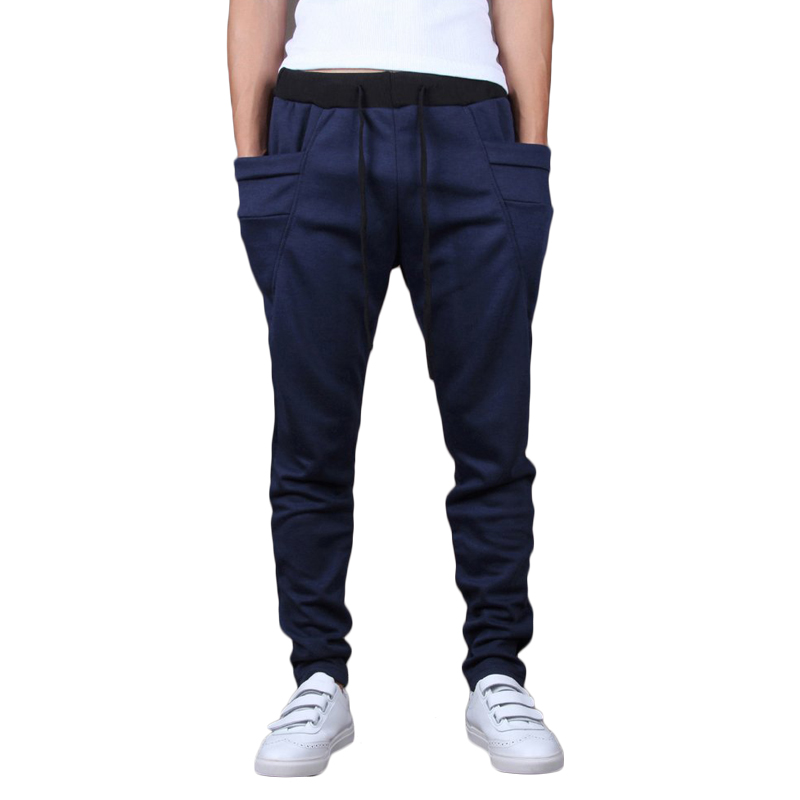 New Fashion Mens Joggers Harem Sweatpants Casual Slim Pants Sarouel Men Tracksuit Bottoms For Men Trousers Clothing