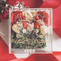 Cocostyles custom blank elegant square acrylic ring box with gold engraving logo for fancy wedding gift box