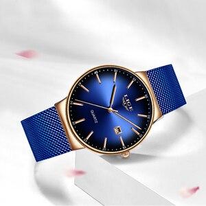 Image 2 - LIGE Fashion Women Watches Ladies Top Brand Luxury Sport Quartz Dress Watch Ladies Full Steel Waterproof Watch Relogio Feminino