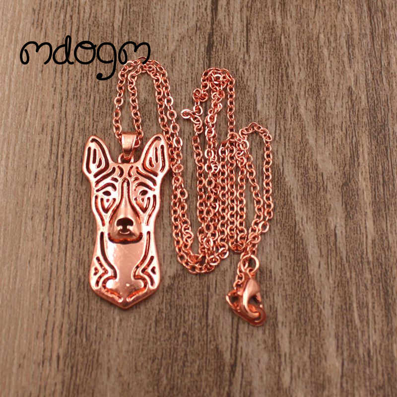 2018 Cute Basenji Necklace Dog Animal Pendant Gold Silver Plated Jewelry For Women Male Female Girls Ladies Kids Boys N101