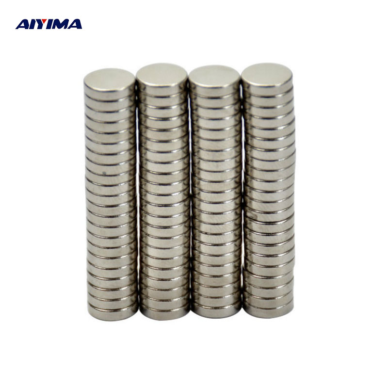 AIYIMA 100pcs Mini N35 8*2mm Round Disc Magnets 8mm*2mm Rare Earth Magnet NdFeB Strong Magnetic Magnetite Super Magnets 8x2