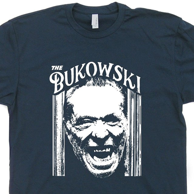 3af2934a2 OKOUFEN The Charles Bukowski T Shirt Cool Vintage Book Literary Poet  Literature Tee Shining Writer Poster Art Wo Tees