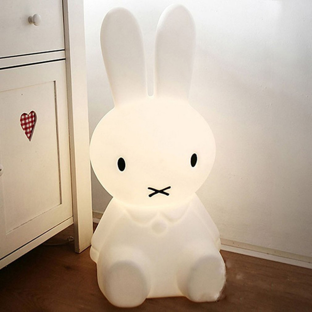 ICOCO LED Night Light Lovely Rabbit Shape Atmosphere Light Bedside Desk Lamp Baby Room Bedroom Sleeping Light Decoration Toy