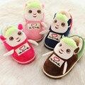 2016 новый бренд зима детская обувь девушки парни теплые милый мультфильм овец тапочки дети Домашней Обстановки тапочки
