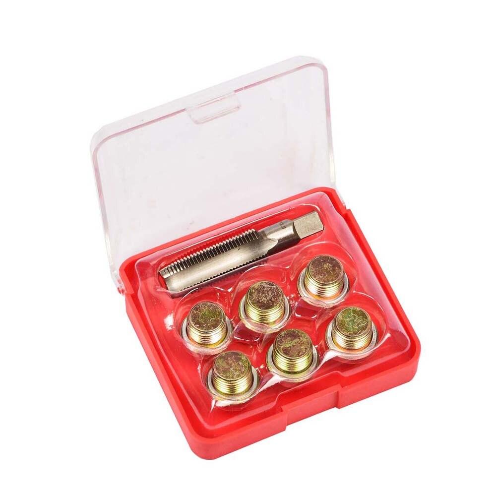 7PCS Oil Pan Drain Sump Plug Key Thread Repair Tool Kit Set Garage M13 M15 M17