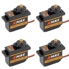 4 шт. EMAX ES08MDII ES08MD II цифровой сервопривод 12 г/2,4 кг/высокоскоростная мини металлическая шестерня