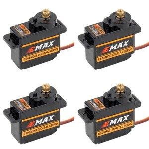 Image 1 - 4 шт. EMAX ES08MDII ES08MD II цифровой сервопривод 12 г/2,4 кг/высокоскоростная мини металлическая шестерня