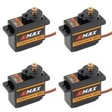 4 pezzi EMAX ES08MDII ES08MD II Servo digitale 12g/ 2.4kg/Mini ingranaggi metallici ad alta velocità