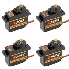 4pcs EMAX ES08MDII ES08MD השני דיגיטלי סרוו 12g/2.4 kg/גבוהה מהירות מיני מתכת הילוך