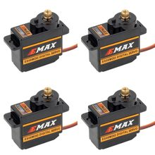 4 piezas EMAX ES08MDII ES08MD II Digital Servo 12g/2,4 kg/de alta velocidad Mini Metal Gear(China)