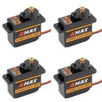 4pcs EMAX ES08MDII ES08MD II Digital Servo 12g/ 2.4kg/ High speed Mini Metal Gear