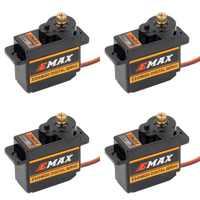 4pcs EMAX ES08MDII ES08MD II Digital Servo 12g/ 2.4kg/ High-speed Mini Metal Gear