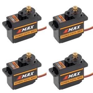 Image 1 - EMAX Servo Digital ES08MDII ES08MD II, Mini engranaje de Metal de alta velocidad, 12g/2,4 kg, 4 Uds.