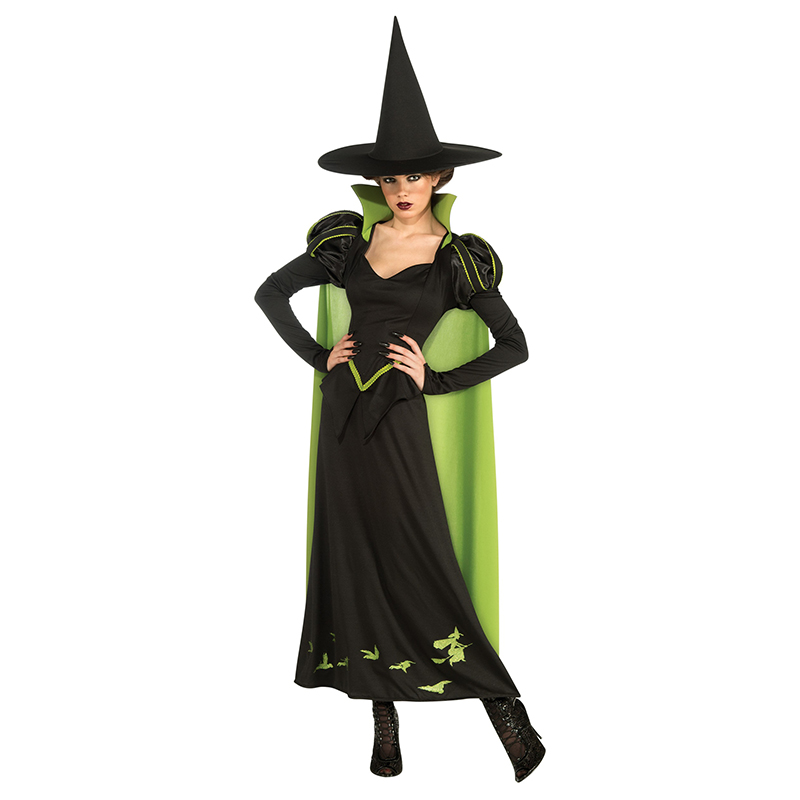 49ce86ed85 Adulto Donne Halloween Strega Costume Nero Vestito Lungo Witch Robe Outfit  Plus Size Lovelive Cosplay Funny Costume-in Movie & TV costumes from ...