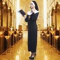 Nuevo de alta calidad trajes de fiesta de halloween monjas dress mujer ropa cosplay desgaste amor vivo cosplay ropa