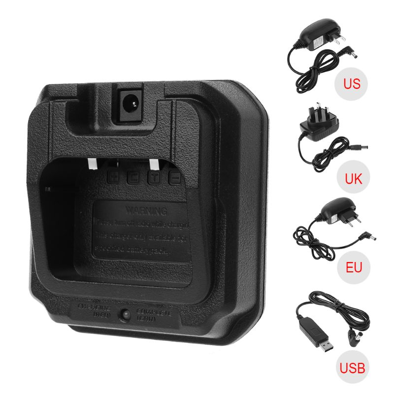 UV-9R USB Base Battery Charger For UV-XR A-58 UV-9R GT-3WP UV-5S BF-A58 Walkie Talkie Waterproof Two Way Radio Series