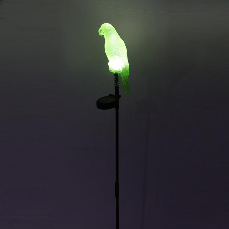 Garden Outdoor Light Waterproof LED Solaris Energy Panel Solar Powered Bird Shaped Lawn Grass Lamp Yard Path Garland Decoration