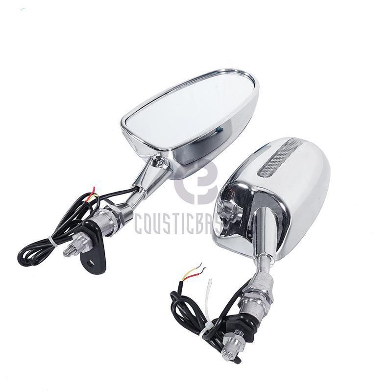 Brand new 100 Chrome motorcycle parts LED Mirrors for 1987 1998 CBR 600F1 F2 F3