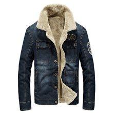 Men Denim Jackets Coat Winter Thick Fleece Warm Vintage Trendy Hot Sale Outerwear Male Appliques Blue Man Casual Basic
