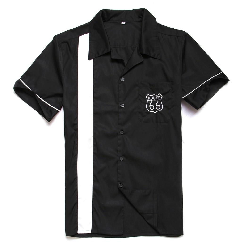 katoen nieuwe stijl top merk shirt met borduurwerk rockabilly hiphop vintage shirt voor feestdiner shirts 40s Amerikaanse kleding